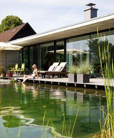Mit einem Schwimmteich lässt sich der Traum vom Naturpool direkt am Haus auch in kleinen Gärten realisieren – und das mit wenig Pflegeaufwand.