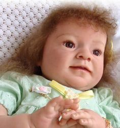 Reborn Baby big girl Stacey.. Melina kit by Reva Schick.. 9 lbs & 9 oz's...25 inches...rooted hair..Created by me..2011...