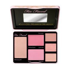The Secret To No Makeup Makeup Palette - Too Faced- see this review http://www.xojane.com/beauty/ban-the-term-barefaced-the-makeup-palette-to-make-it-look-like-youre-not-wearing-makeup