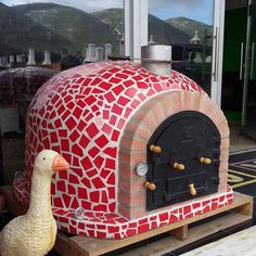 The Outdoor Pizza Oven MOSAIC Mediterranean with chimney that will inspire good times around the table. Best prices and free delivery in the EU! Wood Oven, Wood Fired Oven, Wood Fired Pizza, Pizza Oven Outdoor, Outdoor Cooking, Outdoor Kitchens, Outdoor Rooms, Outdoor Living, Pizza Oven Fireplace