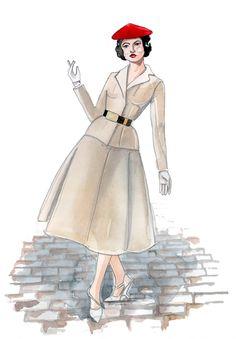 fashion illustration retro