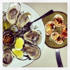 oysters and eggs