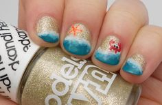Images For > Beach Nail Designs