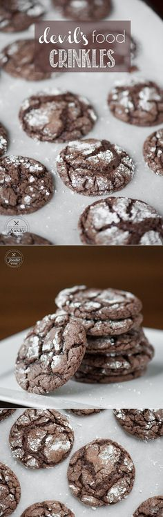 These Devils Food Crinkles are a cinch to make because all you need to do is add a few ingredients to your favorite cake mix, bake, and enjoy!