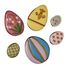 Easter Circle Box of 6 Biscuits - Faberge Eggs - Fortnum & Mason