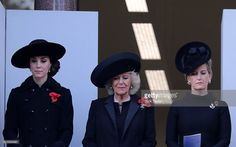 (L-R) Catherine, Duchess of Cambridge, Camilla, Duchess of Cornwall and Sophie, Countess of Wessex attend the annual Remembrance Sunday Service at the Cenotaph on Whitehall on November 13, 2016 in London, England.  The Queen, senior politicians, including the British Prime Minister and representatives from the armed forces pay tribute to those who have suffered or died at war.  (Photo by Jack Taylor/Getty Images)