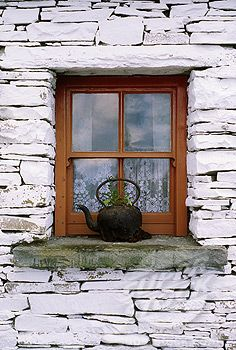 Traditional Cottage Windows, Bunratty Folk Park, Co Clare