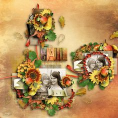 It's fall again by Et Designs and  Cluster and colors: Flower meadow by Tinci Designs