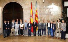 Recibiendo a los organizadores e inversores del Foro 'Iberian Tech Tour'