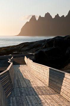 Tungenesetviewpoint, designed by Code Arkitektur; Senjahopen / Norway; 2007