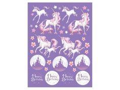 Access Unicorn Fantasy Value Stickers, 4 Ct