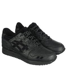 Buy #Asics Gel Lyte III Men's Black #Athletic #Running #Sneaker Online. Find more men's running, #training, and walking sneakers at #ShiekhShoes.com.
