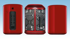 Special edition red Mac Pro up for auction