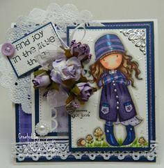 Handmade OOAK Cards by The Hoosier Stamper: Gorjuss Girl Toadstools