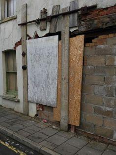 Was once a door ...side street in Frinton on Sea