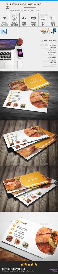restaurant business card photoshop psd restaurant name card
