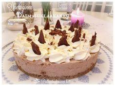 Pullantuoksuinen koti: Unelmainen Daim-suklaatuorejuustokakku