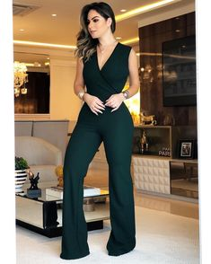 Work Fashion, High Fashion, Womens Fashion, Casual Wear, Casual Outfits, Fashion Outfits, Classy Business Outfits, Jumpsuit Outfit, Casual Looks