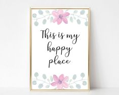 This is my happy place print printable wall art printable quotes quotes prints quotes wall art Craft Room Signs, Craft Room Decor, Craft Room Storage, Room Organization, Wall Decor, Craft Quotes, Wall Art Quotes, Quotes Quotes, Printable Quotes