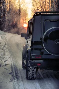 Mercedes G Class   Snow is like a second home