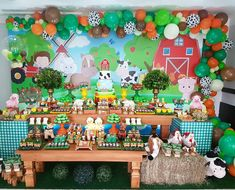 Image may contain: indoor Farm Theme, Farm Animals, 2nd Birthday, Advent Calendar, Party Themes, Garland, Balloons, Baby Shower, Holiday Decor
