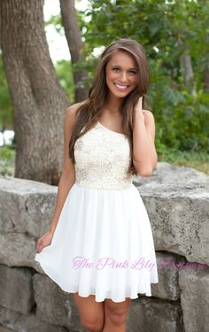 The Pink Lily Boutique - An Elegant Affair Dress Ivory , $42.00 (http://thepinklilyboutique.com/an-elegant-affair-dress-ivory/)