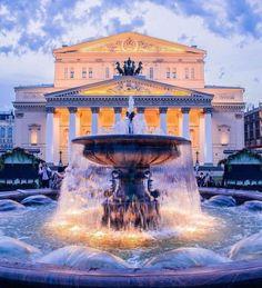 Москва Большой театр вечером