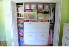 Organized Girl's Room Closet