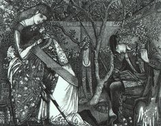 The Knight`s Farewell, 1858 - Edward Burne-Jones