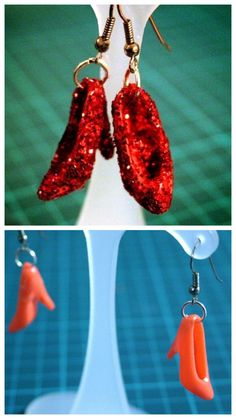 DIY Barbie Shoe Earrings Tutorial by Cat Morely from Cut Out  ....Ruby slippers :D
