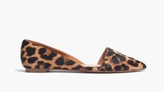 madewell lydia flat in leopard.