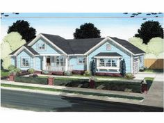 Traditional cottage // 4 bed, 2 bath, 2 car with optional basement layout