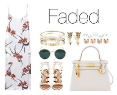 """Faded"" by anaelle2 ❤ liked on Polyvore featuring Ganni, Hermès, Ray-Ban, Cartier, Letters By Zoe, Tate, Jeweliq, Isabel Marant, Maison Margiela and Jade Jagger"