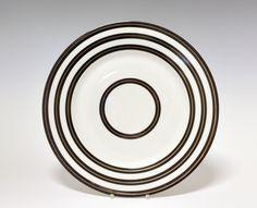 Dinner plate by Nora Gulbrandsen  for Porsgrund Porselen. In production between 1927-1937. Model nr 15.00. Decor nr 6137