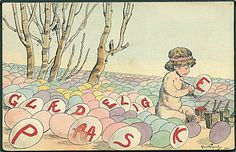 glaedelig paaske postkort - Google Search