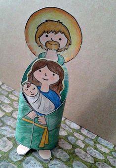 hidtan_sztjozsefpapir2017c Christian Christmas Crafts, Christmas Love, Christmas Crafts For Kids, Xmas Crafts, A Christmas Story, Christmas Projects, Christmas Decorations, Diy Nativity, Santa Crafts