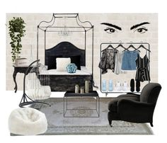 """""""Untitled #3661"""" by maddie1128 ❤ liked on Polyvore featuring interior, interiors, interior design, home, home decor, interior decorating, David Design, HAY, Nearly Natural and Howard Elliott"""