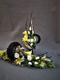 Grave Decorations, Funeral, Floral Arrangements, Floral Wreath, Wreaths, Flowers, Home Decor, Flower Arrangements, All Saints Day