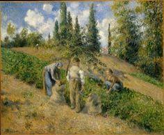 The Harvest at Pontoise - Camille Pissarro - The Athenaeum