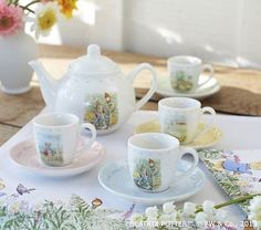 Peter Rabbit™ Tea Set from Pottery Barn - Perfect for a Child's Tea Party