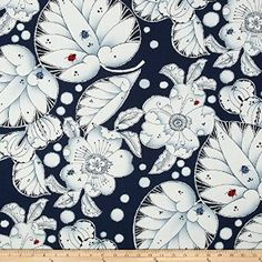 Amazon.com: Alexander Henry Indochine Lotus Leaf Indigo Fabric