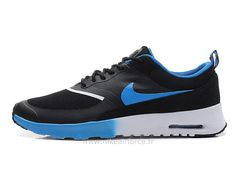 the best attitude bd2aa 10b71 Nike Air Max Thea Mens Trainers Black, Lake blue, White  ZdmsL  Nike