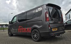 """Nw Renault Trafic wrapped in the 3M SatinGrey metallic.  #3M #Carwrapping #Stealthlook #FolieTotaal #PremiumCarstyling #TSWwheels #20"""""""