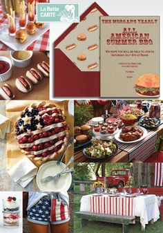 4th July, 4th July Party, BBQ, Online invitations 4th of july bbq party ideas - Invitaciones, 4 Julio, Barbacoa, Parrillada - La Belle Carte : http://www.labellecarte.com/en/la_belle_blog/2012/06/21/celebrate-this-4th-of-july-with-an-all-american-bbq-online-invitations-and-red-white-and-blue-menu/#