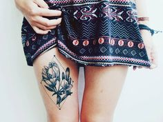 Idée tatouage : une fleur graphique - Les 40 plus beaux tatouages de Pinterest - Elle