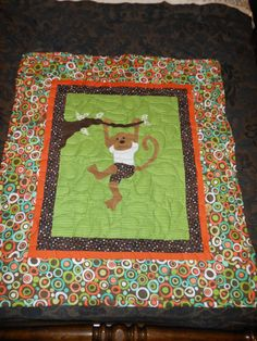 Baby Quilt PATTERN  Boy  Girl   PDF  Monkeys Are by pixieharmony