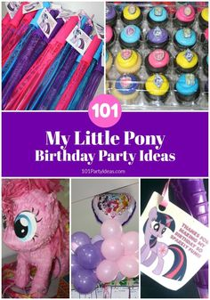 101 My Little Pony Birthday Party Ideas. Plus, My Little Pony Free Printables. My Little Pony Birthday Party, Party Favors For Kids Birthday, 4th Birthday Parties, Birthday Gifts For Girls, Friend Birthday, Birthday Party Decorations, Birthday Ideas, 5th Birthday, Party Themes