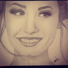 Demi Lovato Drawing by Karen Mast [[Etsy shop: DrawingsbyKaren]] Demi Lovato, Cool Drawings, Celebrity, Etsy Shop, Artwork, Projects, Photography, Painting, Inspiration