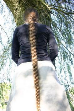 Super long braid! And a positive perk is that she seems normal weight and not overweight :)