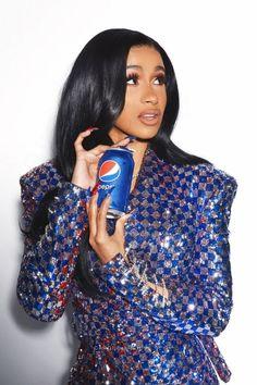 Cola Wars, Cardi B Photos, Pepsi, Halle, Music Artists, High Neck Dress, Photoshoot, Celebrities, Beauty
